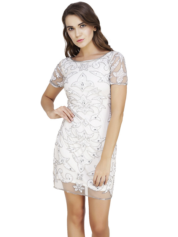 Lori Round Neck Dress White