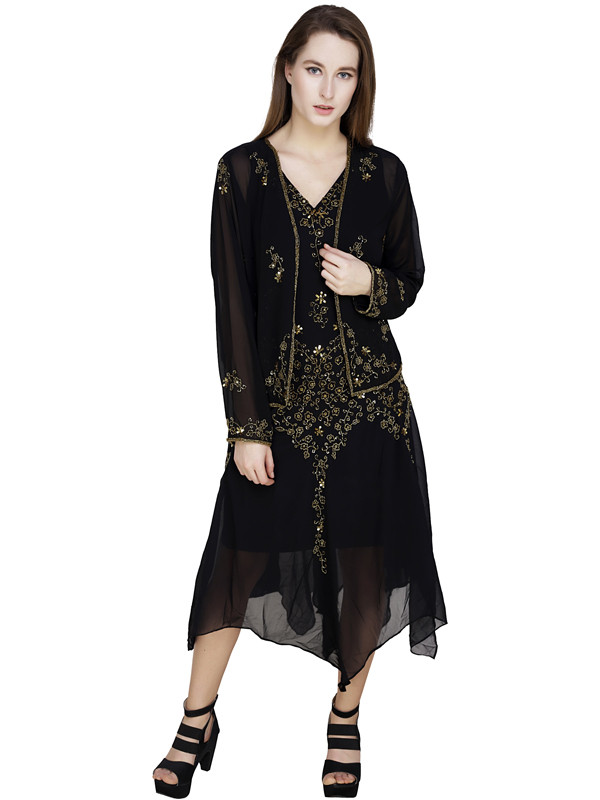 Tracy Jacket Top Skirt Set Black Gold