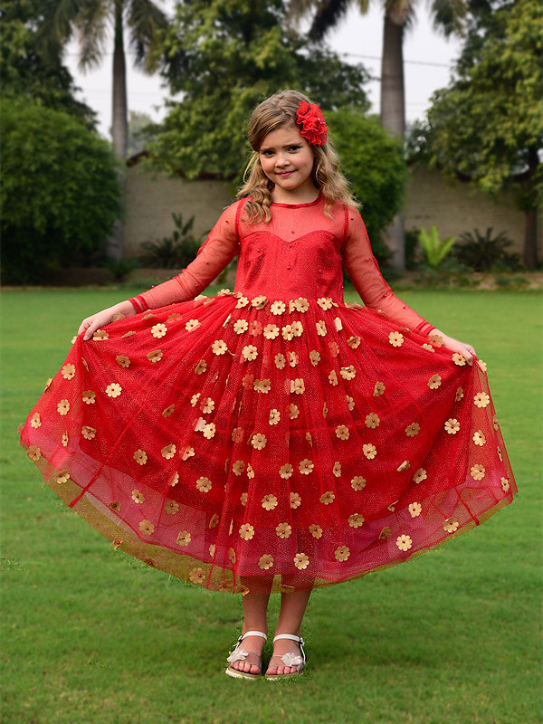 Jennifer Dress CandyRed Golden