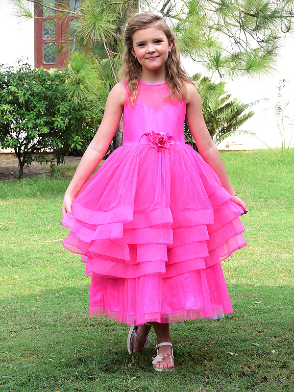 Lily Dress Fuscia