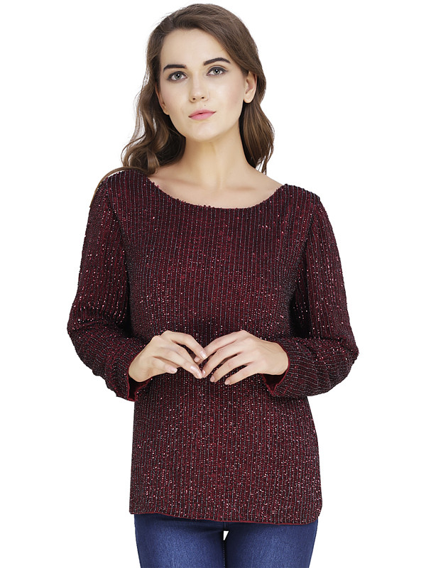 Lisa Long Sleeve Blouse CherryRed