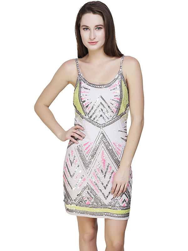 Dawn Tank Dress White Multi