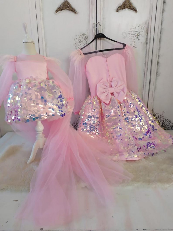 Alice Sequin Mom and Daughter Dress