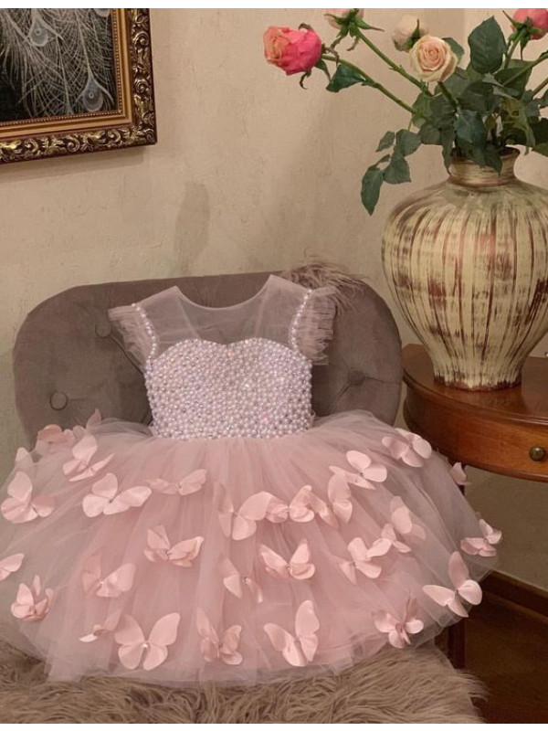 Beaded Butterfly Princess Dress
