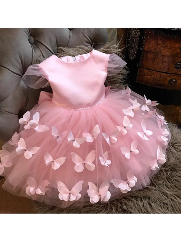 Butterfly Rose Pink Dress