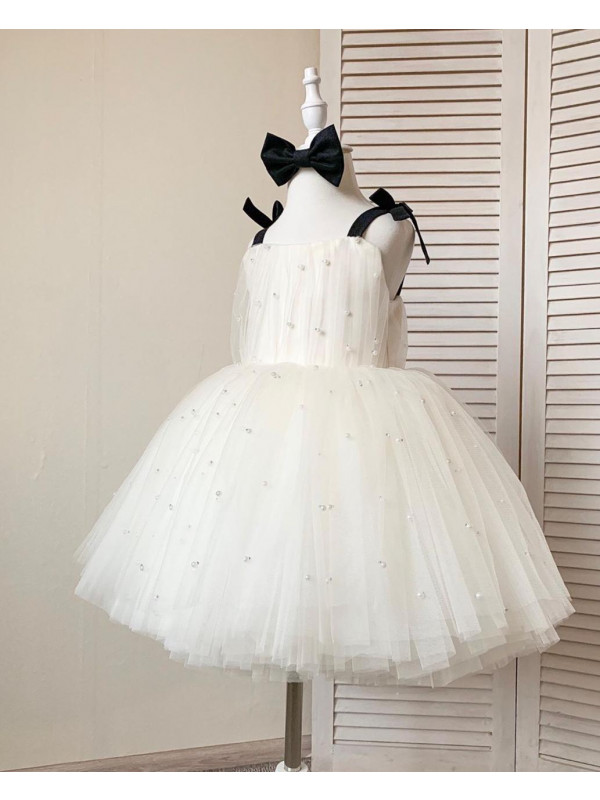 Maria Beaded Flower Girl Dress