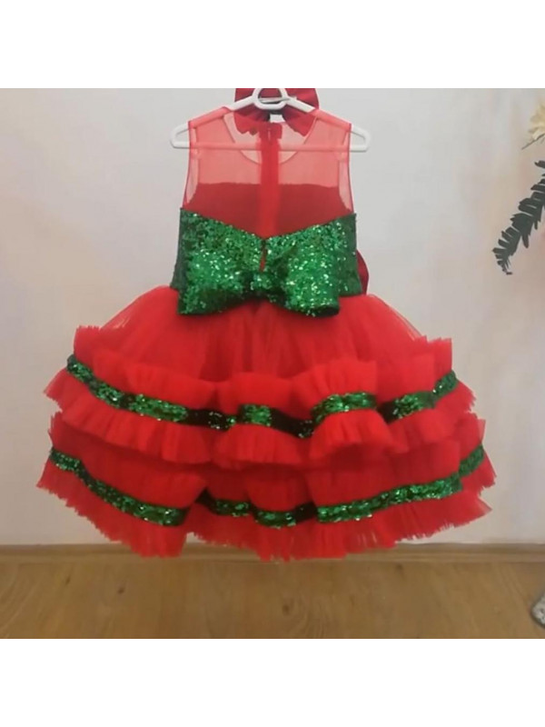 Zolindu Taliana Sequin Frill Girls Dress