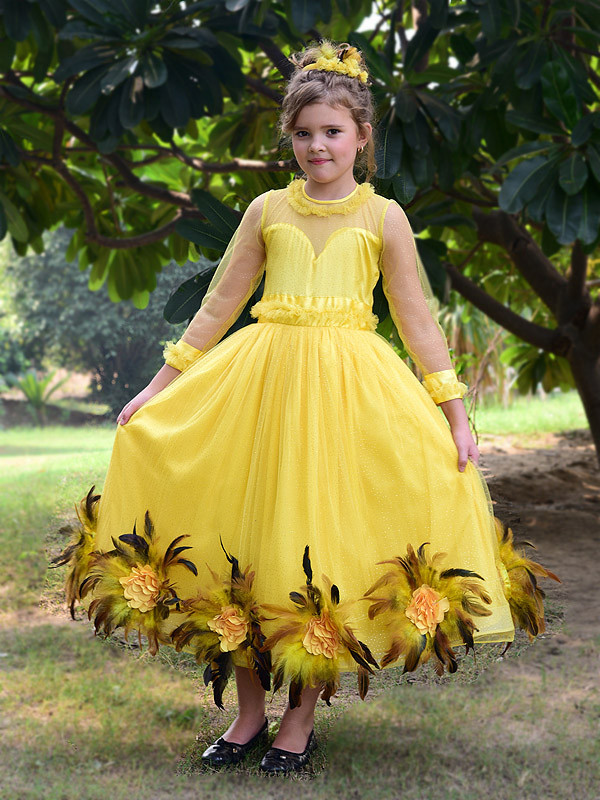 Brooke Gown Yellow Quill