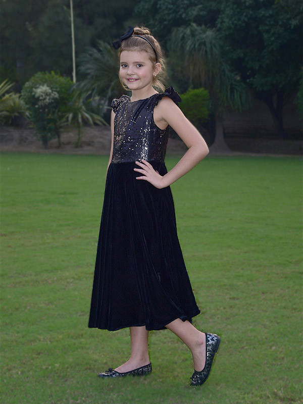 Allison Dress Black Golden