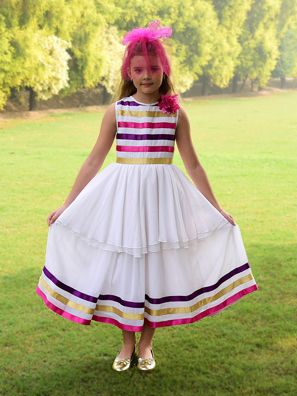 Hailey Dress White Multi
