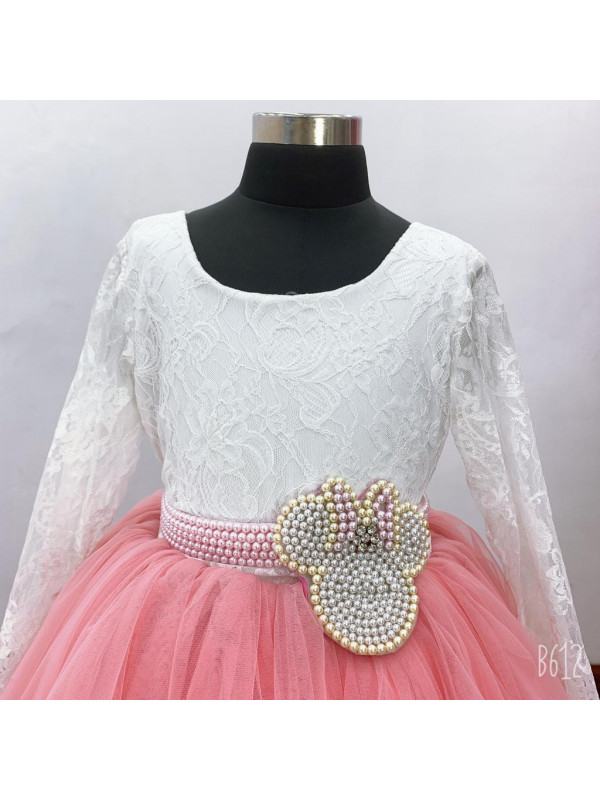 Zolindu Veronika Girls Dress With Minnie Pearl Belt