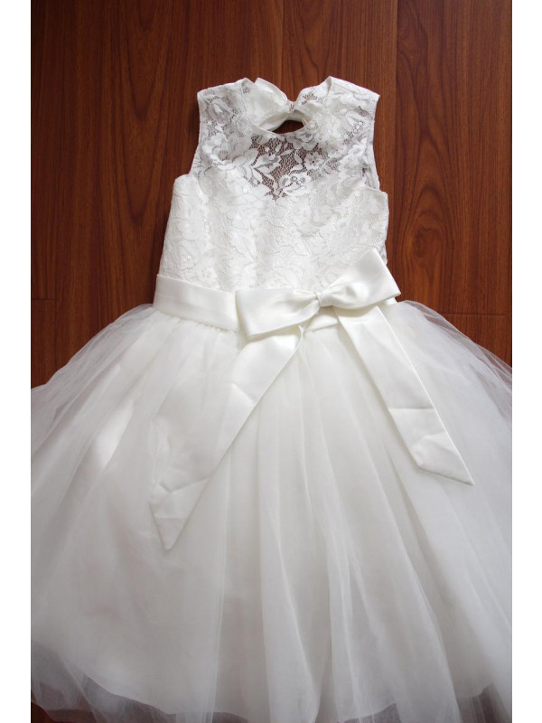 Zolindu Anthea Ivory Flower Girl Dress