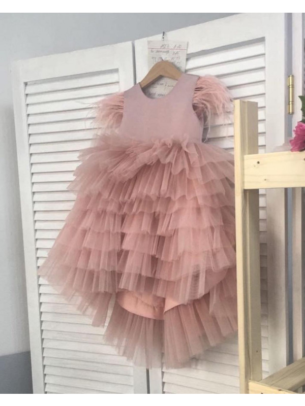 Zolindu Evie Onion Pink Color Mulilayered gown